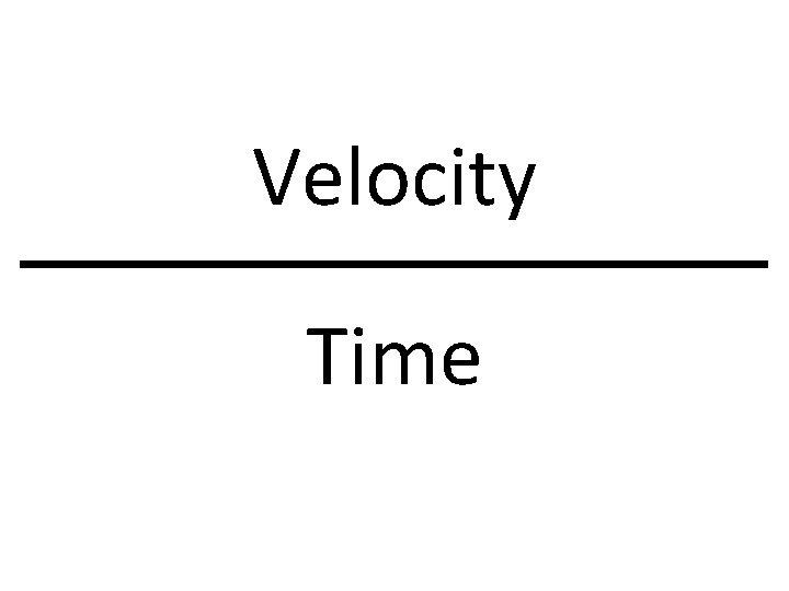 Velocity Time