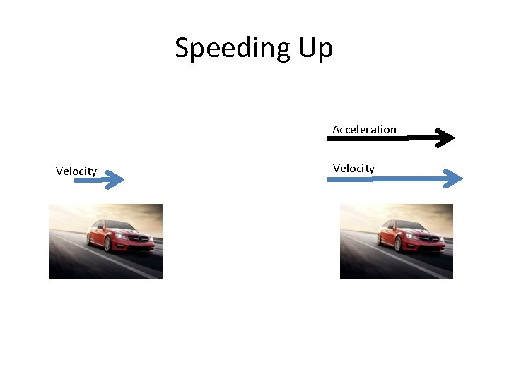 Speeding Up Acceleration Velocity