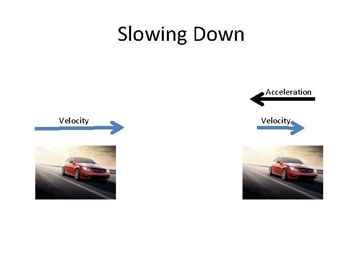 Slowing Down Acceleration Velocity