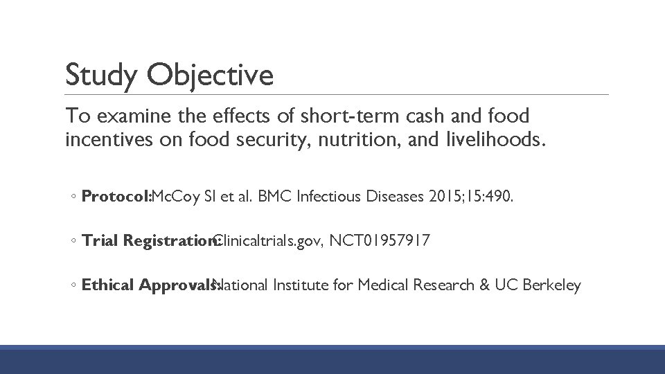 Study Objective To examine the effects of short-term cash and food incentives on food