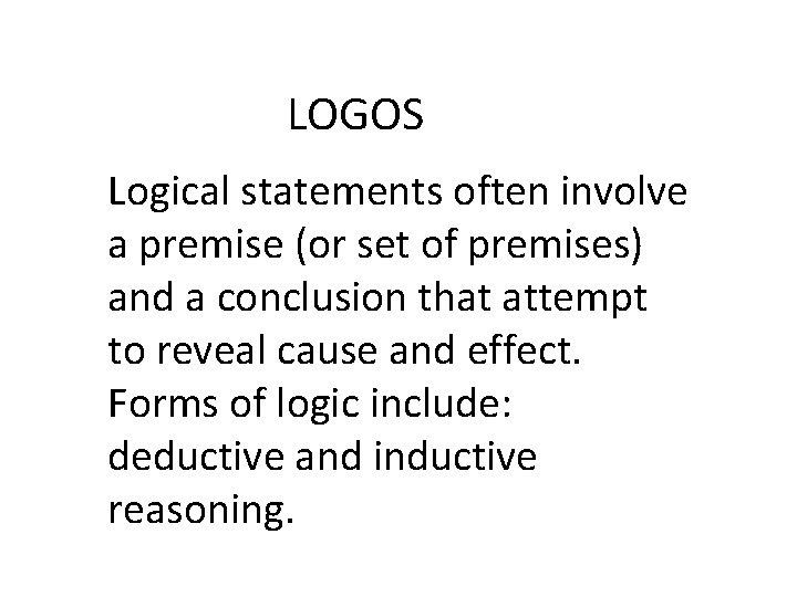 Rhetorical Appeals Ethos Pathos Logos Rhetorical Appeals Ethos