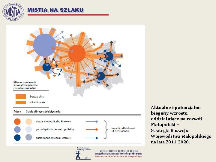 Aktualne i potencjalne bieguny wzrostu oddziałujące na rozwój Małopolski – Strategia Rozwoju Województwa Małopolskiego