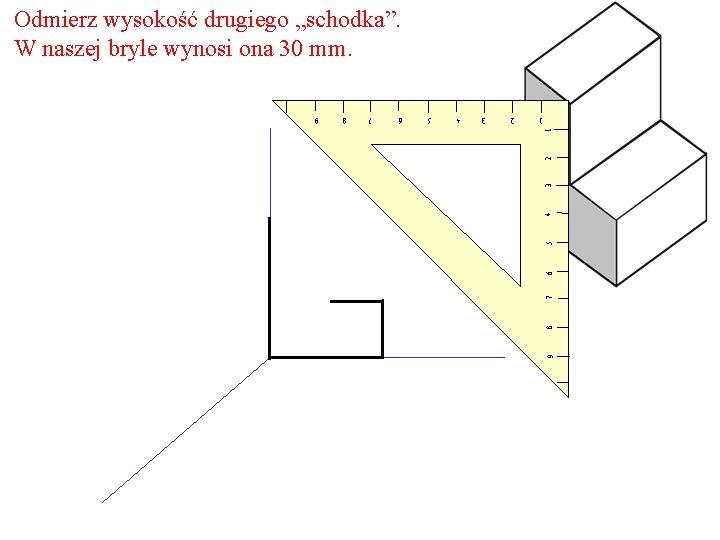"""Odmierz wysokość drugiego """"schodka"""". W naszej bryle wynosi ona 30 mm. 9 8 7"""