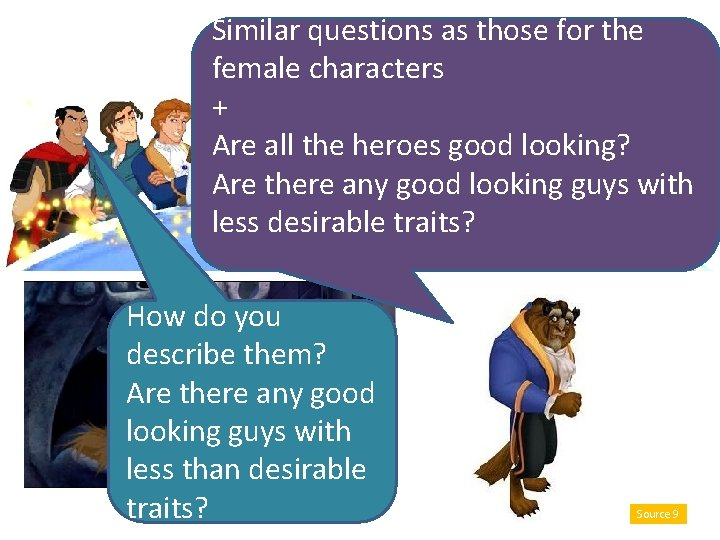 Similar questions as those for the female characters + Are all the heroes good