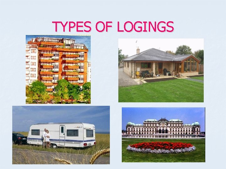 TYPES OF LOGINGS