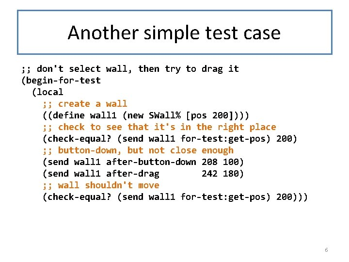 Another simple test case ; ; don't select wall, then try to drag it