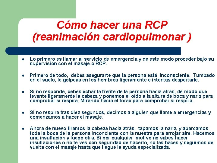 Cómo hacer una RCP (reanimación cardiopulmonar ) l Lo primero es llamar al servicio