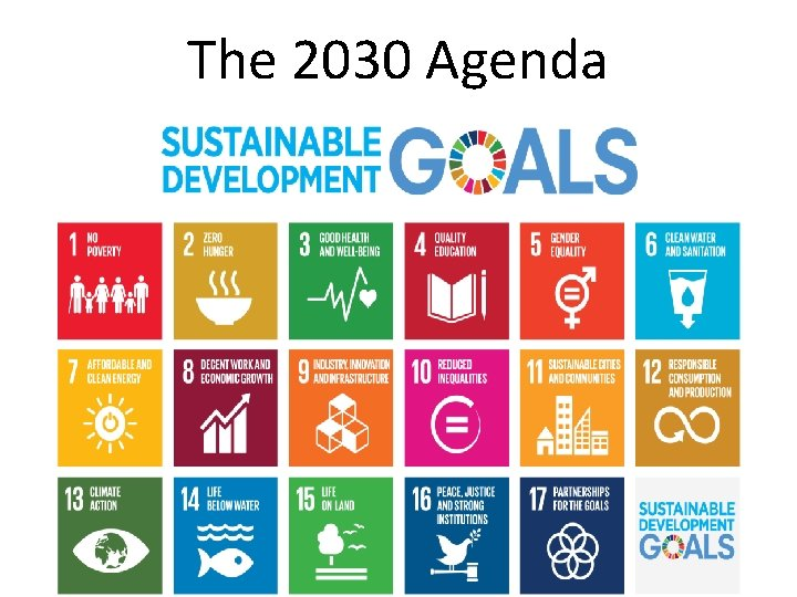 The 2030 Agenda