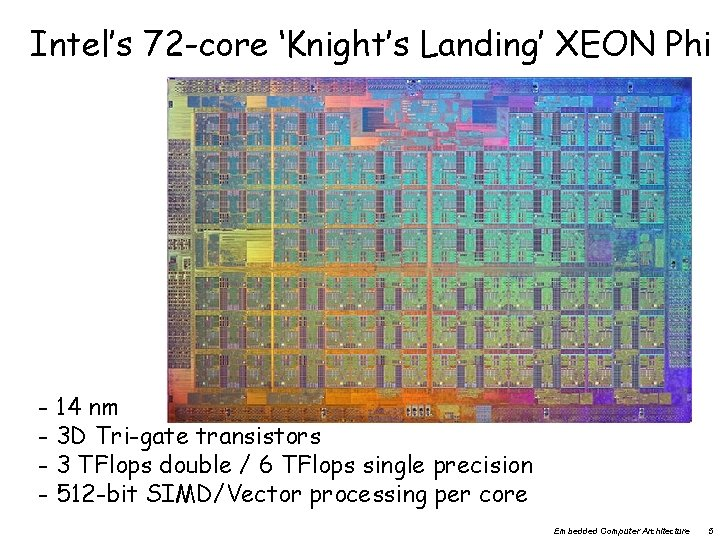 Intel's 72 -core 'Knight's Landing' XEON Phi - 14 nm - 3 D Tri-gate