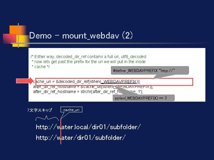 Demo - mount_webdav (2) /* Either way, decoded_dir_ref contains a full uri, utf 8_decoded