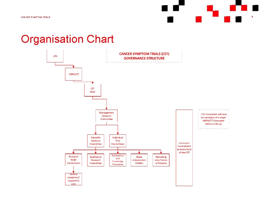 CANCER SYMPTOM TRIALS Organisation Chart 8