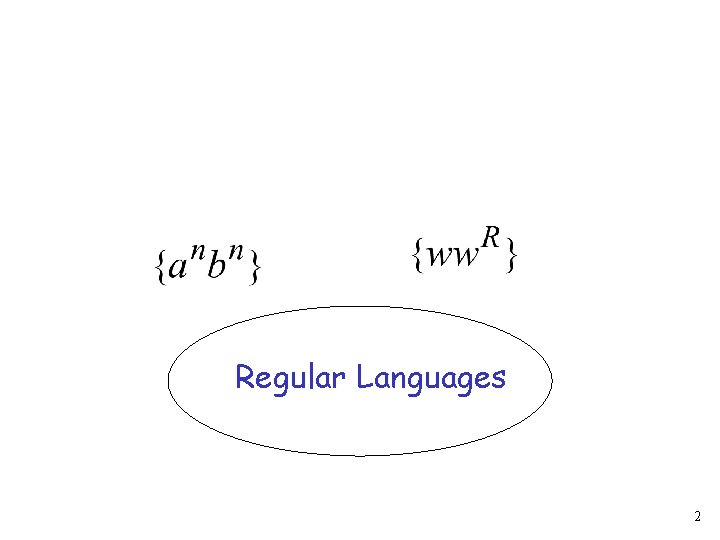 Regular Languages 2