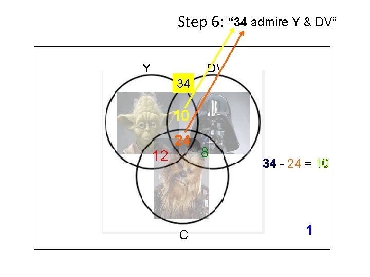 """Step 6: """" 34 admire Y & DV"""" Y DV 34 10 12 24"""