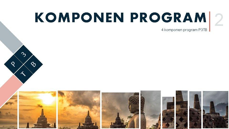 2 KOMPONEN PROGRAM T B P 3 4 komponen program P 3 TB 12