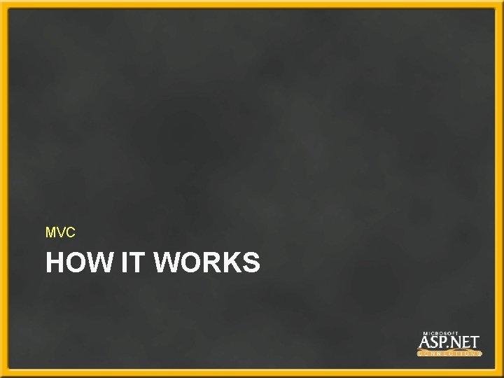 MVC HOW IT WORKS