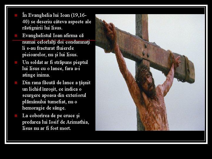greutatea lui isus pierde