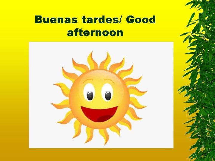 Buenas tardes/ Good afternoon