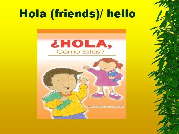 Hola (friends)/ hello