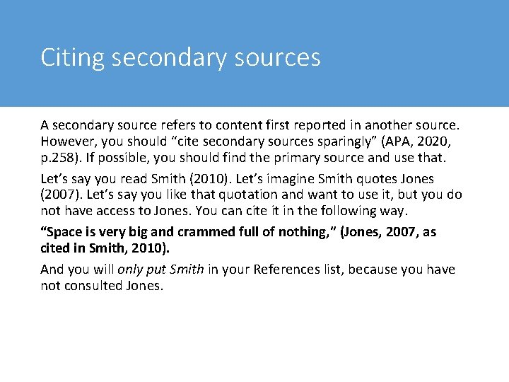 How to cite secondary sources apa how do i write a bibliography in apa style