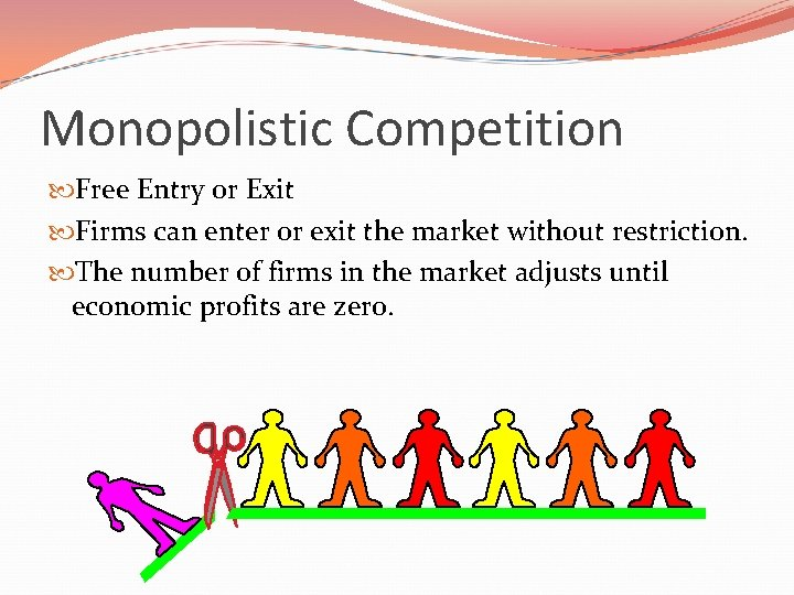 Monopolistic Competition Free Entry or Exit Firms can enter or exit the market without
