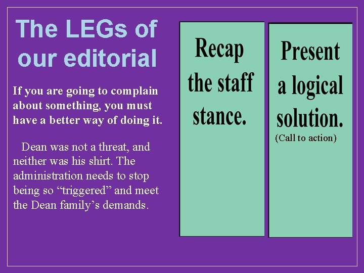 The LEGs of our editorial If you are going to complain about something, you