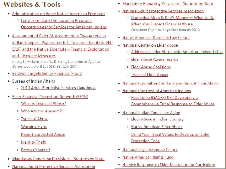 Webpages & Tools
