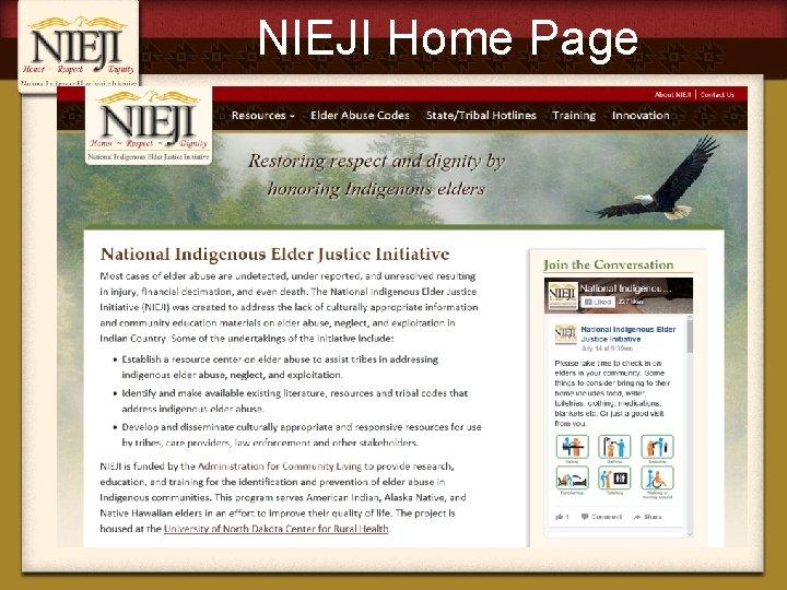 NIEJI Home Page