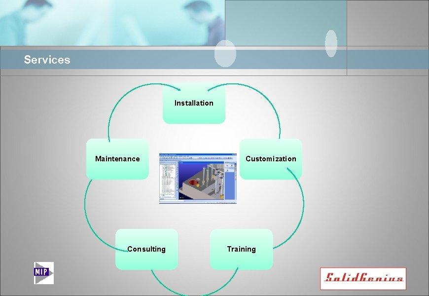 Services Installation Maintenance Consulting Customization Training