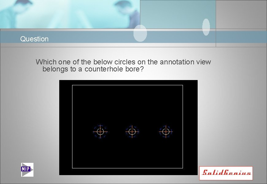 Question Which one of the below circles on the annotation view belongs to a