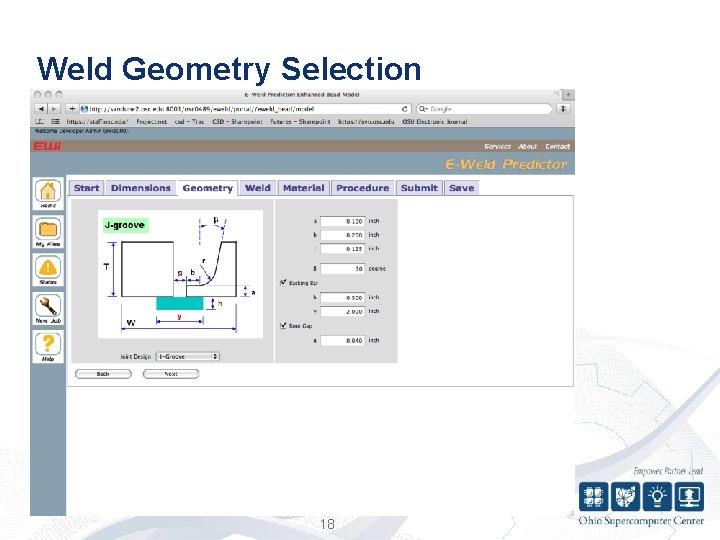 Weld Geometry Selection 18