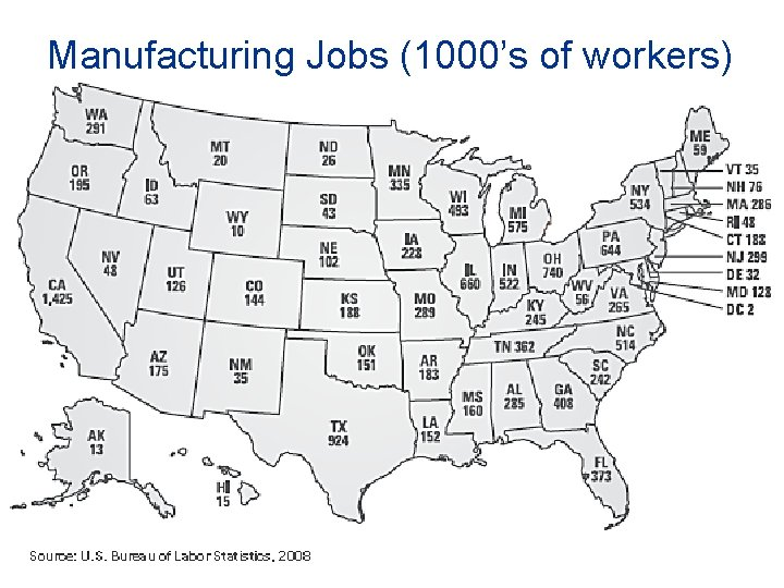 Manufacturing Jobs (1000's of workers) 26