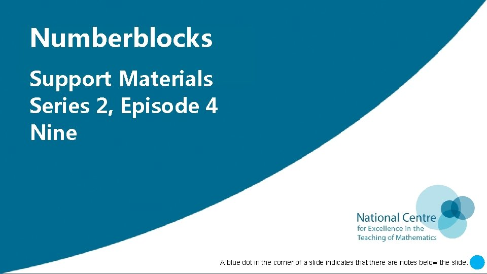 Insert Numberblocks 'Numberblocks' Support Insert 'Support Materials' Insert Series 'Episode 2, Episode[XX]' 4 Insert