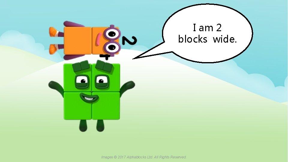 I am 2 blocks wide. A blue dot in the corner of a slide