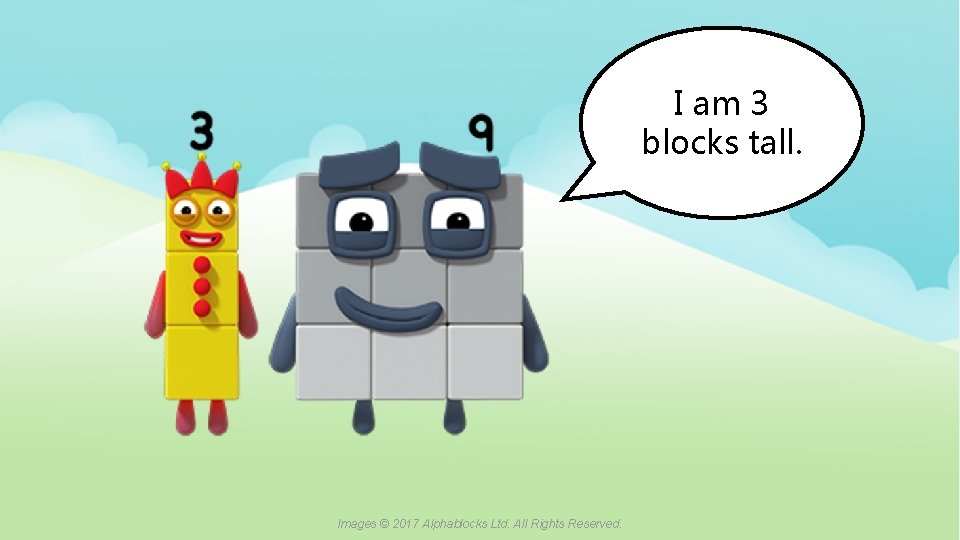 I am 3 blocks tall. A blue dot in the corner of a slide