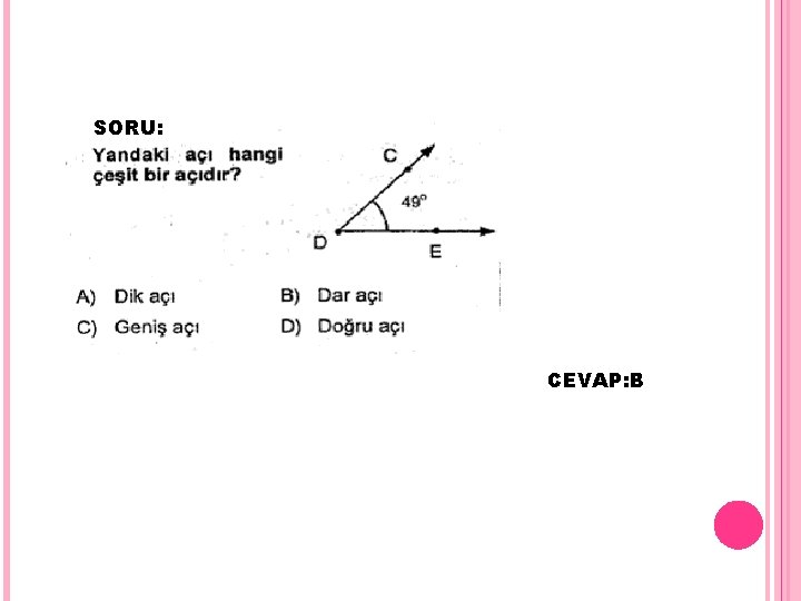 SORU: CEVAP: B