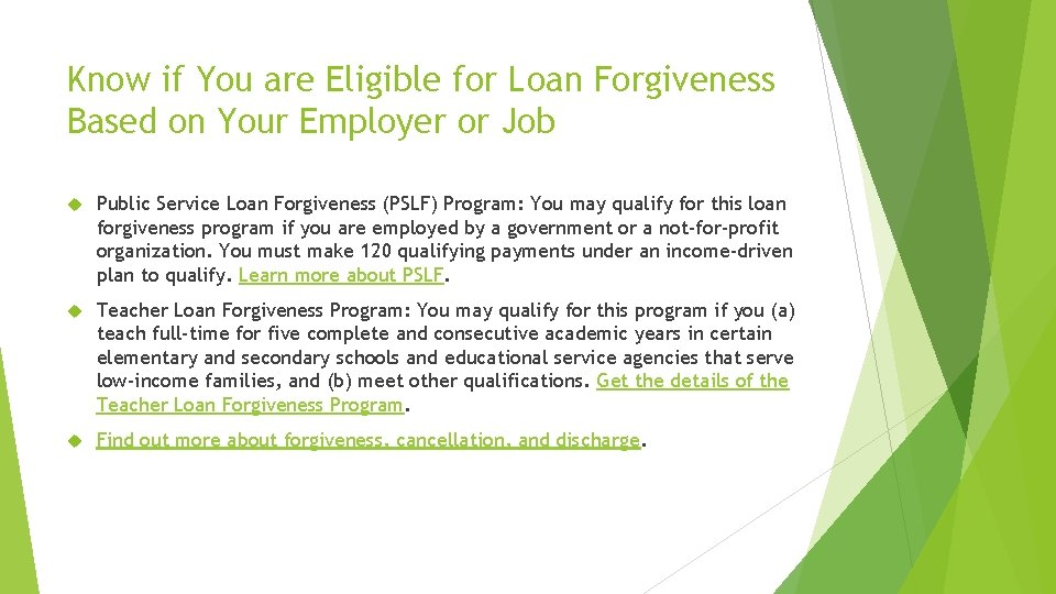 Know if You are Eligible for Loan Forgiveness Based on Your Employer or Job