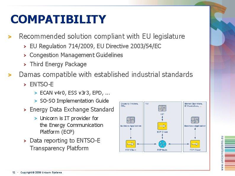 COMPATIBILITY > > Recommended solution compliant with EU legislature > EU Regulation 714/2009, EU