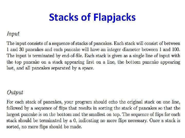 Stacks of Flapjacks