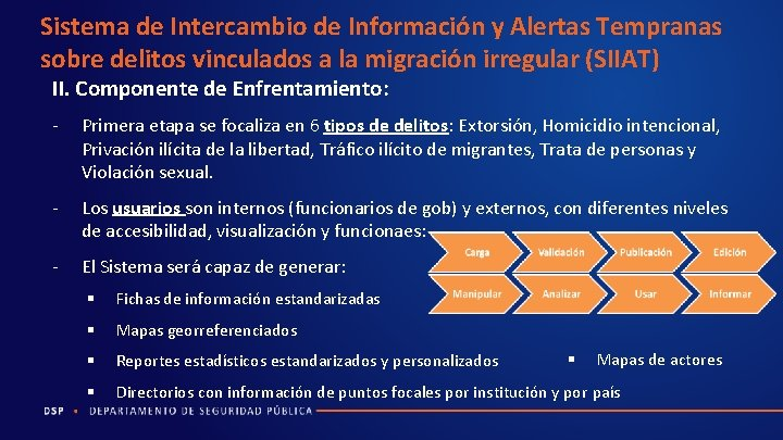 Sistema de Intercambio de Información y Alertas Tempranas sobre delitos vinculados a la migración