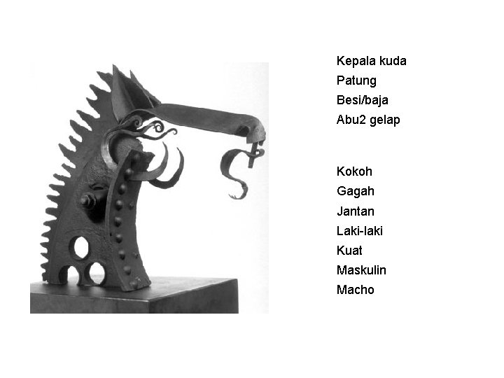 Kepala kuda Patung Besi/baja Abu 2 gelap Kokoh Gagah Jantan Laki-laki Kuat Maskulin Macho