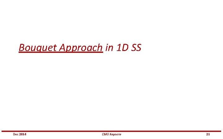 Bouquet Approach in 1 D SS Dec 2014 CMG Keynote 21