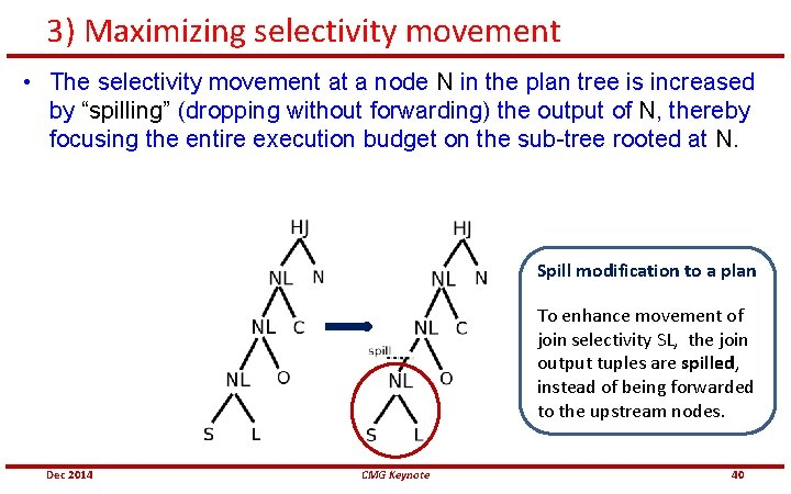 3) Maximizing selectivity movement • The selectivity movement at a node N in the