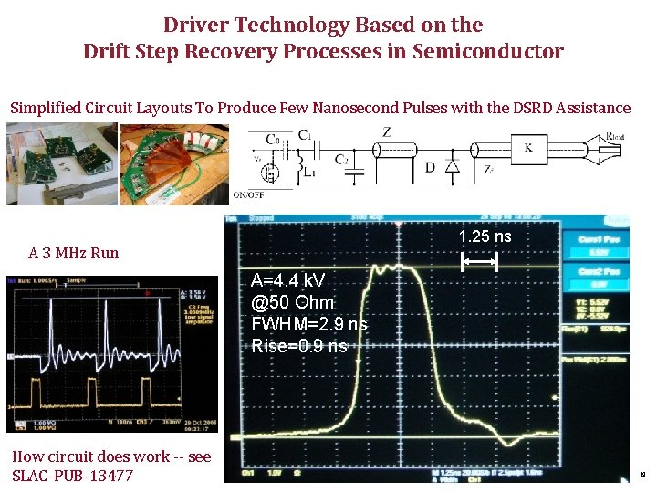 Driver Technology Based on the Drift Step Recovery Processes in Semiconductor Simplified Circuit Layouts