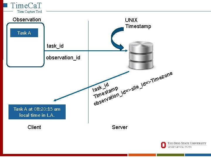 Time. Ca. T Time Capture Tool Observation UNIX Timestamp Time. Ca. T Time Capture