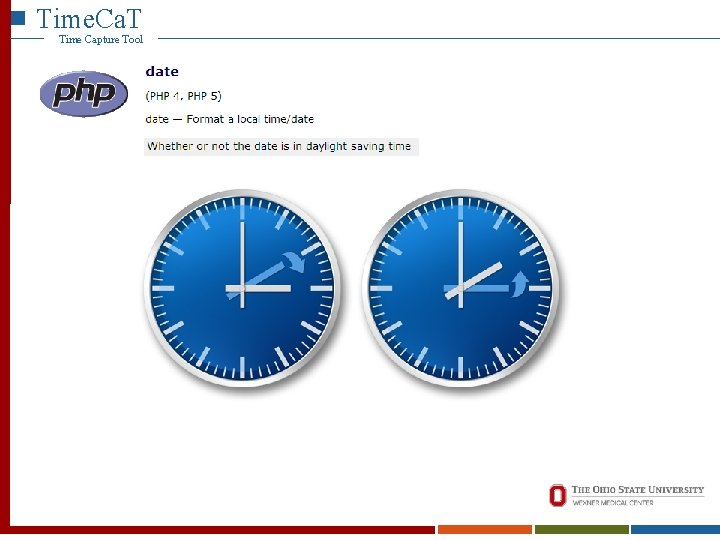 Time. Ca. T Time Capture Tool