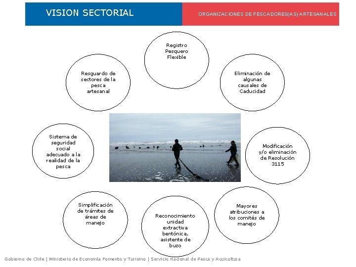 VISION SECTORIAL ORGANIZACIONES DE PESCADORES(AS) ARTESANALES Registro Pesquero Flexible Resguardo de sectores de la