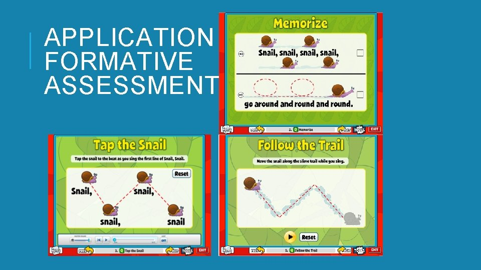 APPLICATION AND FORMATIVE ASSESSMENTS