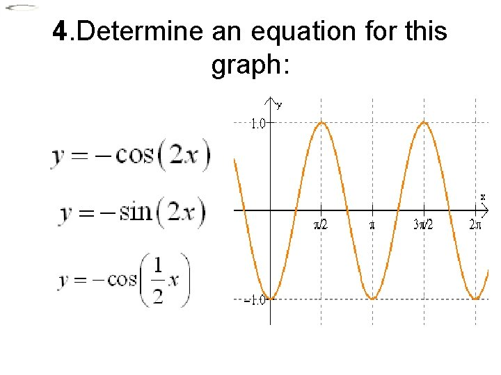 4. Determine an equation for this graph: