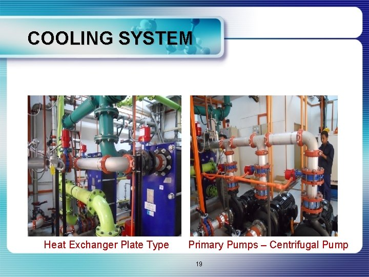 COOLING SYSTEM Heat Exchanger Plate Type Primary Pumps – Centrifugal Pump 19