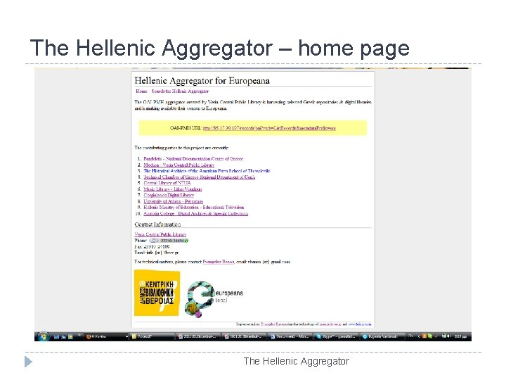 The Hellenic Aggregator – home page The Hellenic Aggregator